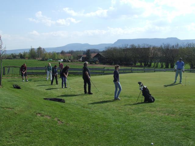 Na Dni otevřených dveří se ukázala řada talentovaných snad budoucích golfistek a golfistů